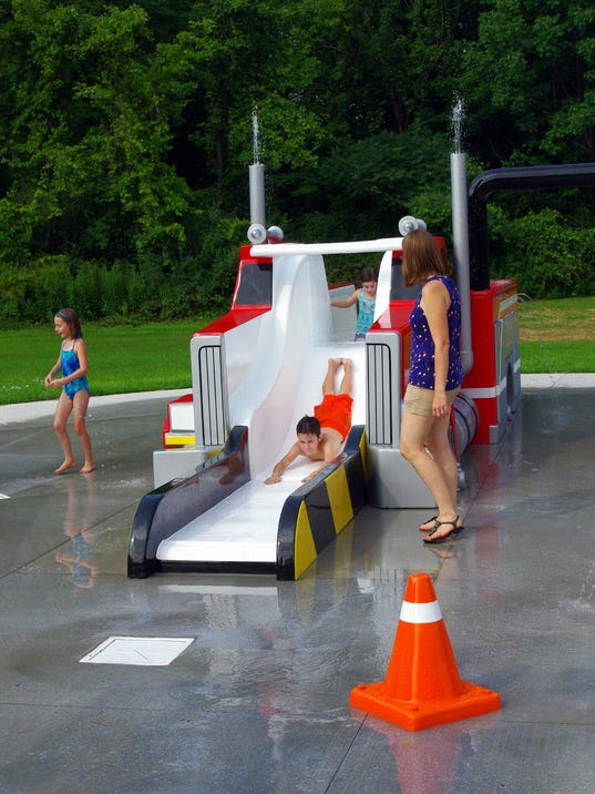 There's even a fire-truck water slide. (Photo: M. Rosenberry)