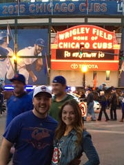 Colleen McGrath, right, and her brother Jon McGrath, are lifelong Chicago Cubs fans and are planning to travel to Chicago to watch Sunday's game from a Wrigleyville bar.