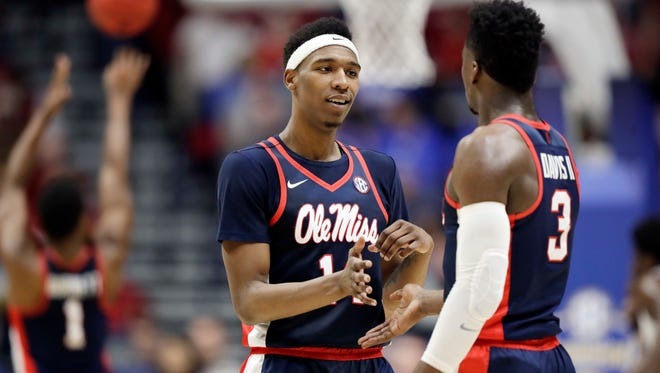 Ole Miss guard Rasheed Brooks (14) will end his career in the NIT.