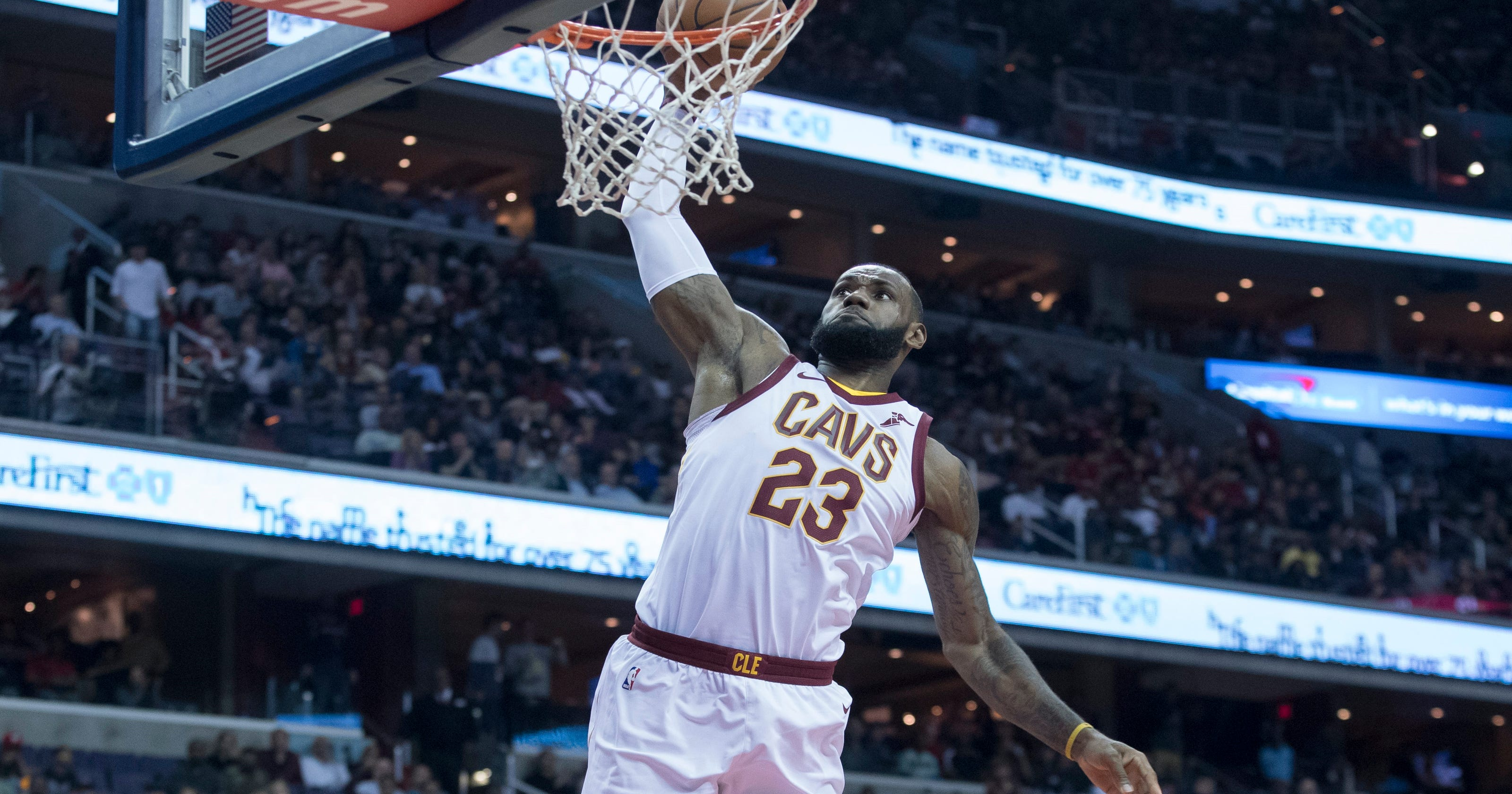 c35f47f99995 LeBron erupts for 57 as Cavaliers top Wizards to snap four-game skid