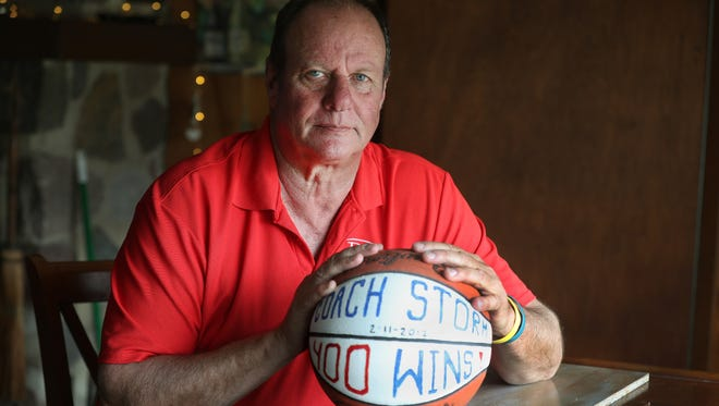Mark Storm spent three decades coaching girl's and boy's basketball as well as baseball in the Honeoye school district . He was fired by the school board after some parents sent a letter to school officials accusing him of abusing alcohol around his players. Storm filed a defamation suit and won.