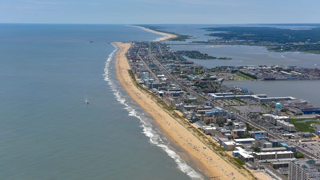 The Ocean City coastline.