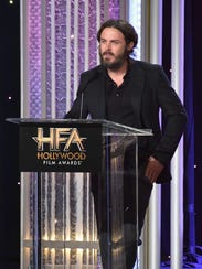 Casey Affleck at the 20th annual Hollywood Film Awards