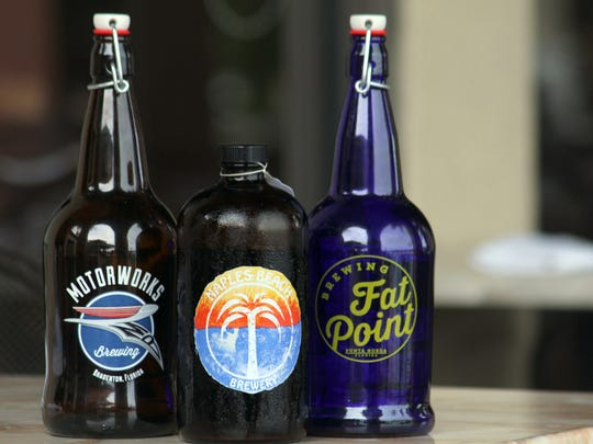 These are three of the local Florida craft beers coming