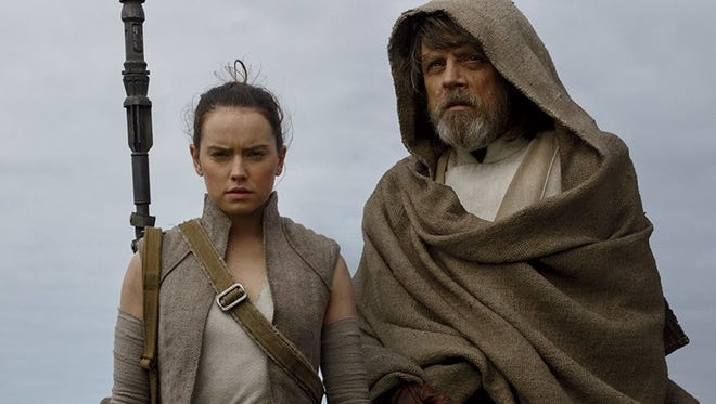 "The Force is with them: Daisy Ridley and Mark Hamill in ""Star Wars: The Last Jedi."""