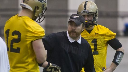 Purdue offensive coordinator John Shoop has two new receivers to incorporate into the offense in 2015.