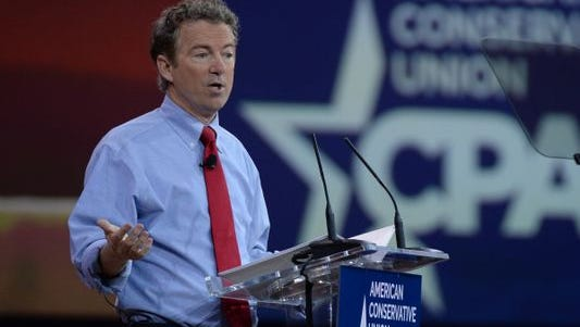Sen. Rand Paul, R-Ky., speaking last month at the Conservative Political Action Conference in National Harbor, MD.