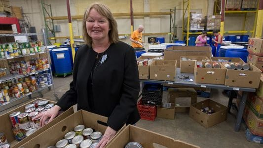 DeDe Flounlacker, executive director of Manna Food Pantry, is her board is once again looking for a new place to relocate. After last April's flood, Manna, began looking to move from its current location on Gonzales Street to a new building out of a flood zone.