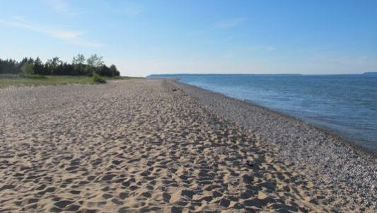 A view of the Lake Michigan shoreline taken in 2011.
