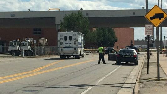 Green Bay police investigated after two men were struck by a pickup truck outside the Georgia-Pacific mill on South Broadway on Tuesday afternoon.