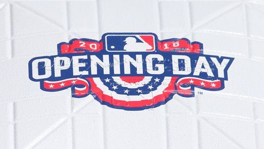 Twelve games on Monday for MLB's Opening Day.