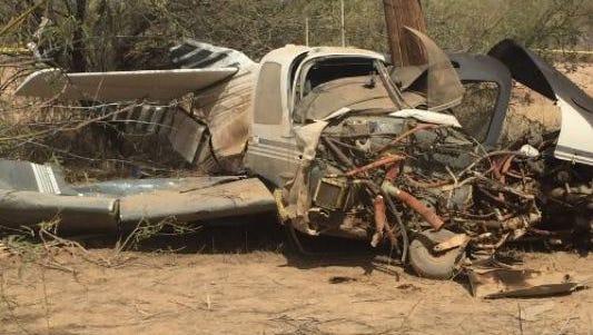El avión se estrelló en una ramada en Adobe Mountain Park, cerca de Pinnacle Peak Road y 43rd Avenue, en el Condado de Maricopa.