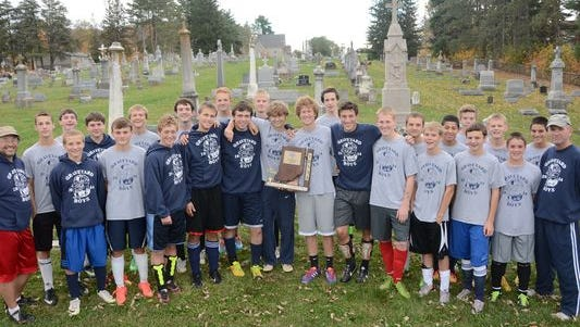 Oldenburg Academy, which has soccer and cross country teams that practice near (or through, in cross country's case) a graveyard.