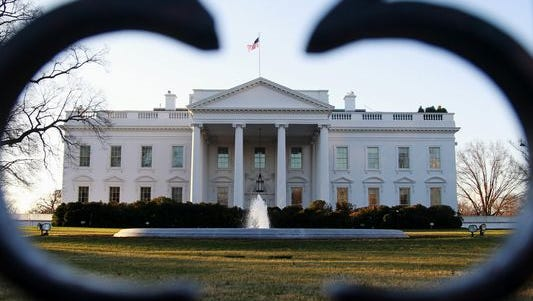 A view of the White House in Washington D.C.