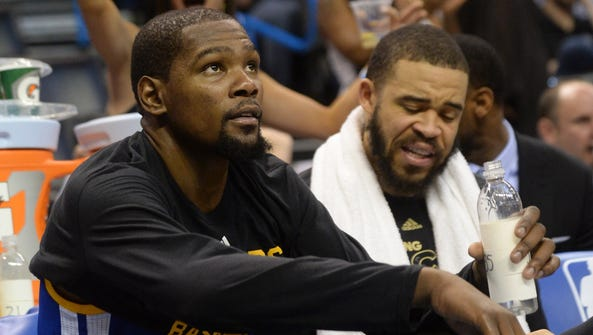 Kevin Durant and JaVale McGee