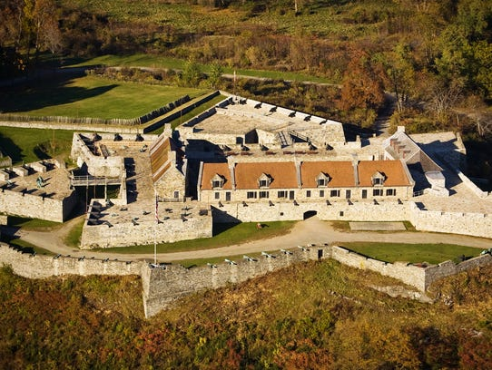 Fort Ticonderoga dates to the mid-1700s and has been