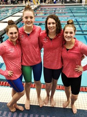 South Lyon Unified's 200-yard medley relay team of
