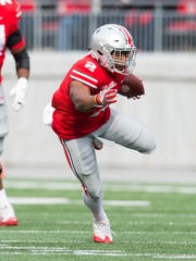 J.K. Dobbins, like cohort Mike Weber, rushed for over 100 yards in Ohio State's rout of Michigan State.