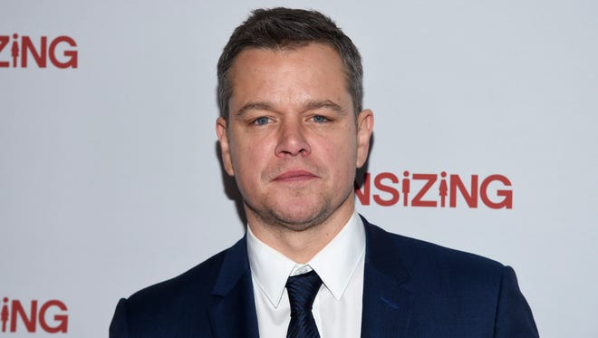 "Matt Damon attends a special screening of ""Downsizing"" at AMC Loews Lincoln Square on Dec. 11, 2017, in New York"