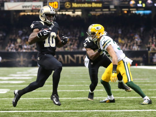 The Saints gave Drew Brees a new toy with first round pick Brandin Cooks (10).