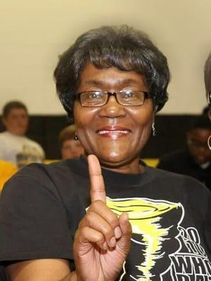 Haynesville teacher Cora Williams is one of the Golden Tors' top fans.