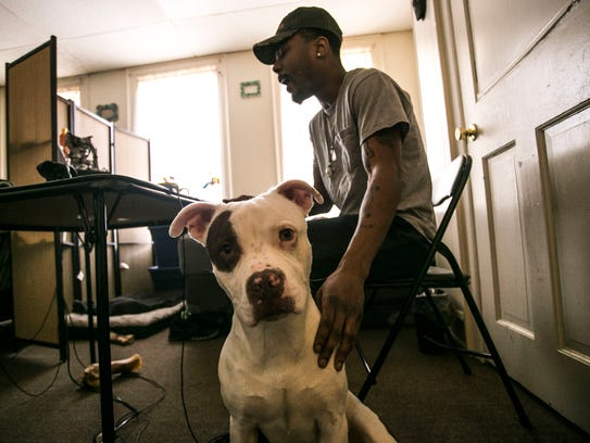 Kahlil's dog Onyx grabs the spotlight, while he freestyles