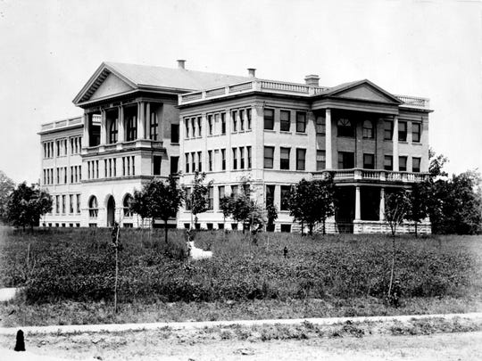 the Administration Building is shown in 1918