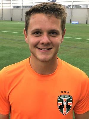 Former Butler University standout Paul Goldsmith had a pair of goals in the Michigan Bucks's 5-1 soccer win over the West Virginia Chaos.
