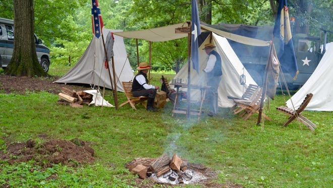 One of many authentic camps at the All American Honor Guard's 21st annual Military History Weekend at Ridgeview Park in Waynesboro.
