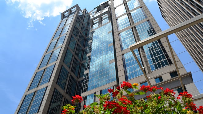 Fifth Third Center at 424 Church St. has been listed for sale.
