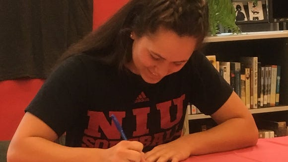 Klahowya's Amber Bumbalough signed her National Letter of Intent with Northern Illinois on Wednesday.