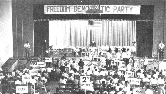 On April 26, 1964, civil rights activists in Mississippi formed the Freedom Democratic Party, which later challenged the all-white Mississippi delegation to the Democratic National Convention in 1964.