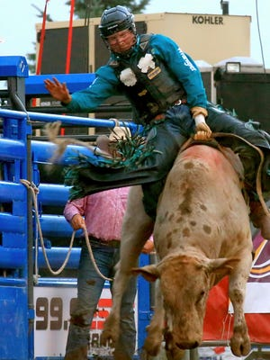 Dakota Louis of Browning will be among three dozen bull riders competing on Saturday at Montana ExpoPark during the Dusty Gliko Bull Riding Challenge.