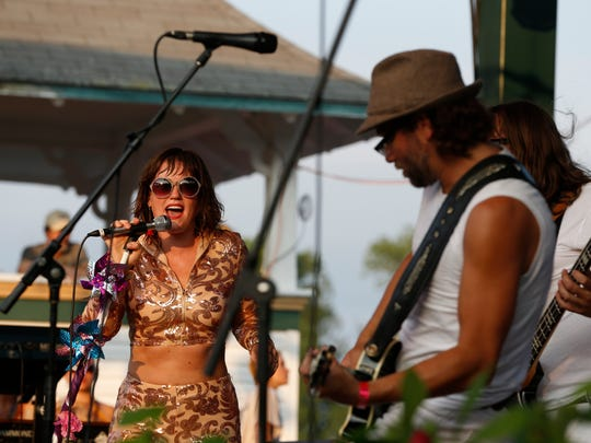 Scenes from GrassRoots Fest in Trumansburg on Thursday.