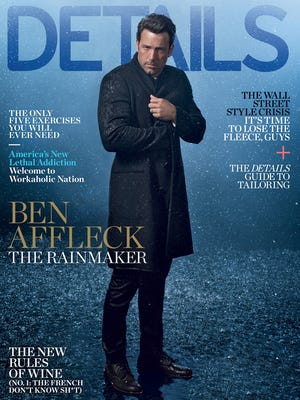 Ben Affleck on the cover of 'Details' magazine.