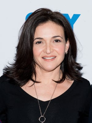 Facebook's Sheryl Sandberg at the 92nd Street Y in New York on April 23.