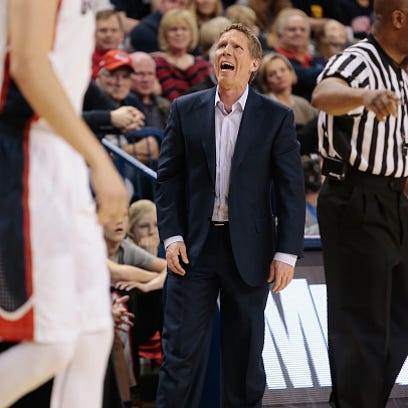 Mark Few at McCarthey Athletic Center on February 28,