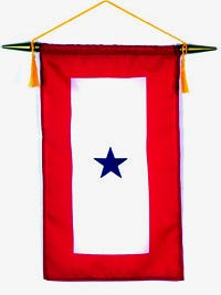 Blue Star banners are available for any parent with a son or daughter serving overseas in the armed forces