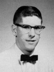 Carl Duke Piatt in his 1965 high school senior photograph,