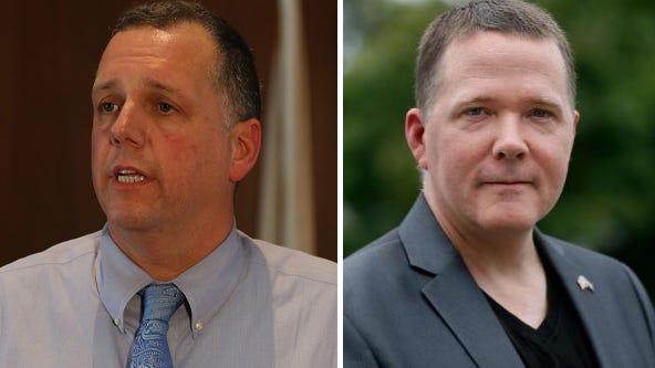 Pawtucket Mayor Donald Grebien, left, and challenger David Norton.