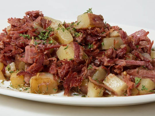Dave's corned beef hash at The Buttered Biscuit Cafe in Bradley Beach.