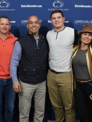 Coach James Franklin made a rare recruiting pull by getting highly-rated defensive lineman Judge Culpepper, middle right, to be a part of his 2018 recruiting class. Culpepper is a Tampa, Florida native and had offers from SEC powers such as Alabama, Georgia and his father's alma mater, Florida.