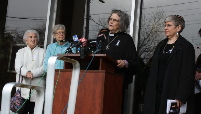 The Rev. Kimberly Chastain, of the Binghamton Presbyterian Church, speaks Monday at the American Civic Association.