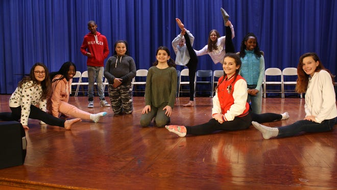 Dancers from West Middle School's dance program during a seventh-grade class.