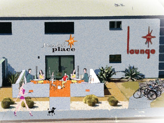 Artist rendering of Market Place on 69th