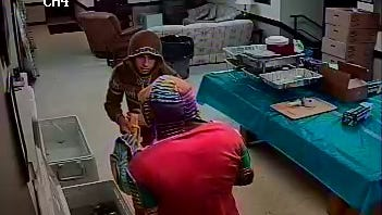 Two men who were caught on surveillance video burglarizing Our Lady of Mount Carmel Society in Verplanck on July 16, 2016, according to state police.  Two 18-year-olds have been charged.