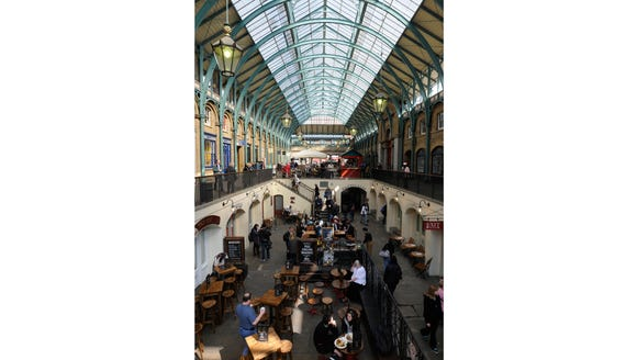 Dining at Covent Garden.
