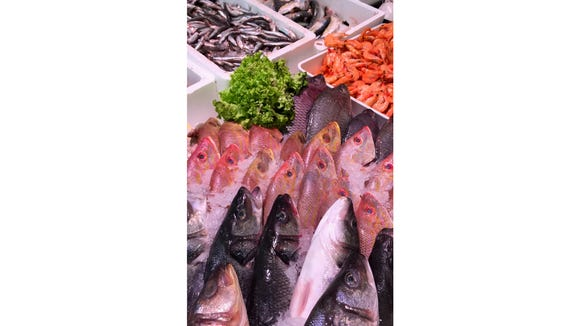 A broad selection of fish.