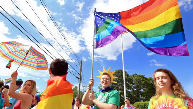 Thousands of people took part in the  2017 Portsmouth Pride parade hosted by Seacoast Outright.