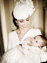 Catherine, Duchess of Cambridge, and her daughter,